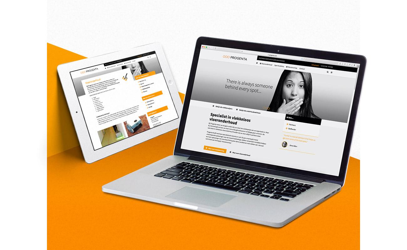 PROGENTA website // GSTALT