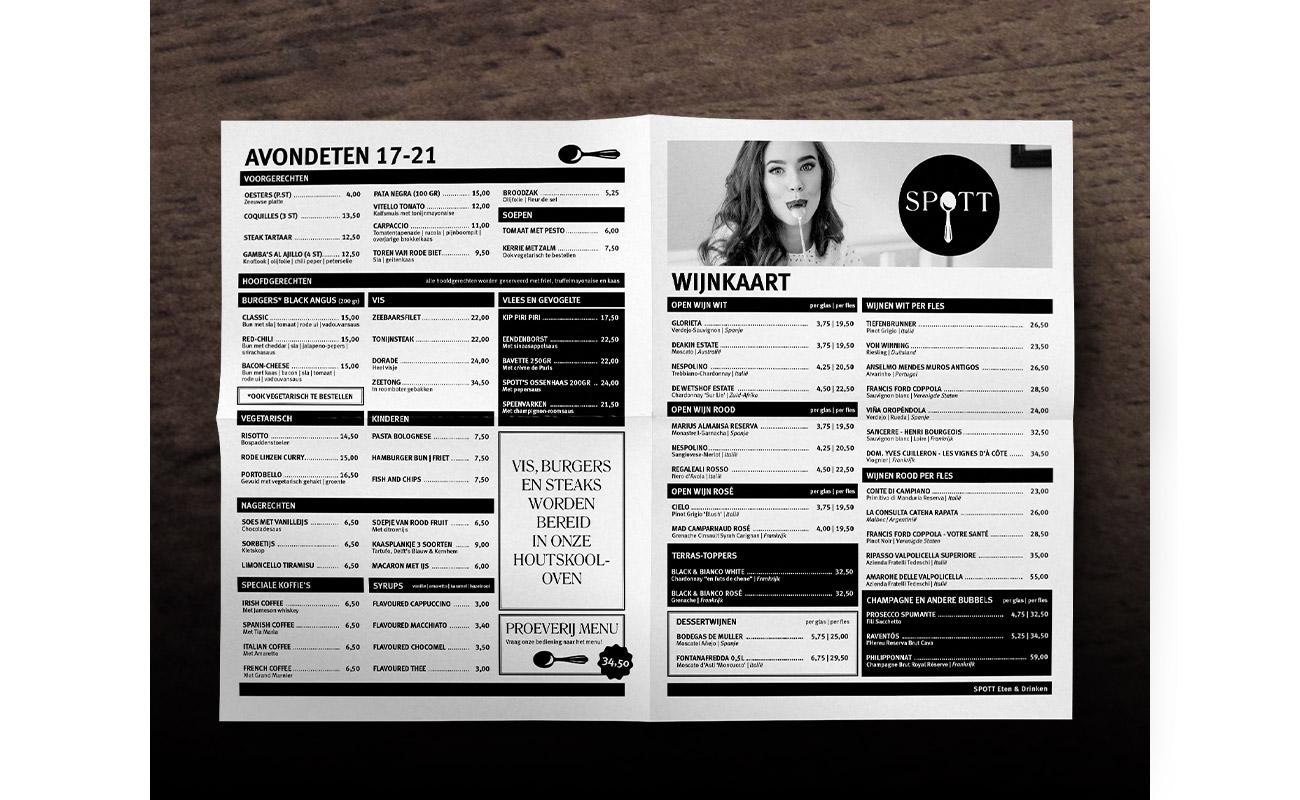 SPOTT menukaart // GSTALT
